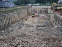 Baugrubensicherung mit Bohrpfahlwand