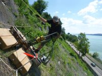 Abnahmeprüfung der Felsnagel in Ludwigshafen-Sipplingen